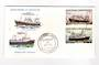 ST PIERRE et MIQUELON 1976 Trawlers. Set of 2 on first day cover. - 38246 - FDC