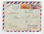 FRENCH SOMALI COAST 1954 Airmail Letter from Djibouti to Nantes. - 38261 - PostalHist