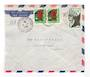 FRENCH SOMALI COAST 1959 Airmail Letter from Djibouti to France. Untidy. - 38269 - PostalHist