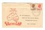 AUSTRALIA 1950 Geo 6th Definitive 6½d Brown on illustrated first day cover. - 38282 - FDC