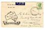 AUSTRALIA 1950 Geo 6th Definitive 6½d Green on illustrated first day cover. - 38283 - FDC