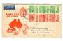 AUSTRALIA 1953 Food Production. Set of 6 on illustrated first day cover. - 38285 - FDC