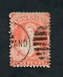 NEW ZEALAND 1862 Victoria 1st Full Face Queen 1d Orange. Postmark imposing. - 39003 - Used