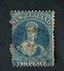 NEW ZEALAND 1862 Victoria 1st Full Face Queen 2d Blue. Not too bad. - 39015 - Used