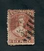 NEW ZEALAND 1862 Full Face Queen 6d Red-Brown. Heavy postmark detracts. - 39021 - Used