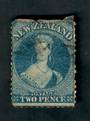 NEW ZEALAND 1862 Full Face Queen 2d Blue. Watermark Large Star. Perf 13. Small thin. Otherwise a fine copy. - 39029 - Used