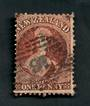 NEW ZEALAND Postmark Numeral 16 on Full Face Queen 1d Brown. Perf 12½. Watermark Large Star. No faults but the postmark covers t