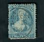 NEW ZEALAND 1862 Full Face Queen 2d Blue. Perf 13 at Dunedin . A Class cancel Dunedin. Dull corner. - 39031 - Used