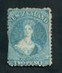 NEW ZEALAND 1862 Full Face Queen 2d Greenish Blue. Perf 12½. Watermark Large Star. The perfs are cut off along one side but stil