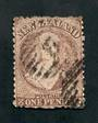 NEW ZEALAND 1862 Full Face Queen 1d Brown. Perf 12½. Watermark Large Star. Unattractive only due to the postmark which covers th