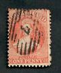 NEW ZEALAND Postmark Numeral 7 on Full Face Queen 1d Vermilion. - 39052 - Postmark