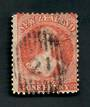 NEW ZEALAND Postmark Numeral 21 on Full Face Queen 1d Vermilion. - 39053 - Postmark