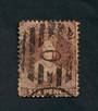 NEW ZEALAND 1862 Victoria 1st Full Face Queen 6d Black-Brown. Perf 13. Numeral cancel 0. - 39056 - Used