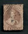 NEW ZEALAND 1862 Full Face Queen 6d Dull Red-Brown. Perf 12½. Watermark Large Star. Bottom corners a little dull. No other fault