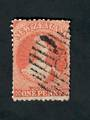 NEW ZEALAND 1864 Victoria 1st Full Face Queen 1d Orange. Trimmed perfs. Poor postmark. - 39080 - Used