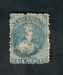 NEW ZEALAND 1862 Full Face Queen 2d Blue. Perf 12½. Watermark Large Star. Untidy postmark. Dull corner. Cat val by CP with fault