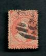 NEW ZEALAND 1862 Full Face Queen 1d Orange. Postmark across face. - 39091 - Used