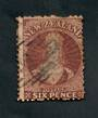 NEW ZEALAND 1862 Victoria 1st Full Face Queen 6d Brown. Watermark NZ. - 39099 - Used