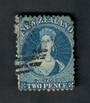 NEW ZEALAND 1862 Full Face Queen 2d Blue. Nice copy but blunt corner. - 39111 - Used