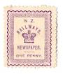 NEW ZEALAND 1890 Railway Newspapers 1d Violet. - 39159 - Mint