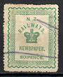 NEW ZEALAND 1890 Railway Newspapers 6d Green. - 39161 - FU
