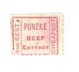 NEW ZEALAND 1882 Second Sideface 1d Rose with advert 3rd setting in Red-Brown Poneke Beef Extract. - 39171 - FU