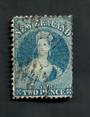 NEW ZEALAND 1862 Full Face Queen 2d Blue. Plate 2. Perf 12½ at Auckland. Slightly dull corner. - 39187 - Used