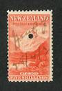 NEW ZEALAND 1898 Pictorial 5/- Red on unwatermarked paper. First Local Issue. Fiscally used. - 39222 - Fiscal