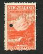 NEW ZEALAND 1898 Pictorial 5/- Red on Cowan paper. Watermark Upright. Fiscally used. - 39223 - Fiscal
