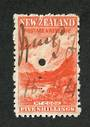 NEW ZEALAND 1898 Pictorial 5/- Red on Cowan paper. Watermark Sideways Inverted. Fiscally used. - 39224 - Fiscal