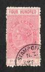 NEW ZEALAND 1880 Victoria 1st Long Type Fiscal £400 Rose with superb corner circular date stamp. Small pinhole. - 39227 - VFU