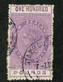 NEW ZEALAND 1880 Victoria 1st Long Type Fiscal £100 Mauve with superb corner circular date stamp. Small repair. - 39229 - VFU