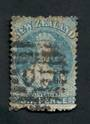 NEW ZEALAND 1862 Full Face Queen 6d Blue. Heavy Postmark. Spacefiller. - 39239 - Used