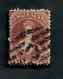 NEW ZEALAND 1862 Full Face Queen 6d Brown. Heavy postmark C. - 39242 - Used