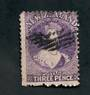 NEW ZEALAND 1862 Full Face Queen 3d Deep Mauve. Perf 12½ at Auckland. - 39243 - Used