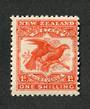 NEW ZEALAND 1898 Pictorial 1/- Orange. Redrawn. Hinged so lightly that you can hardly tell. - 39398 - LHM
