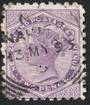 NEW ZEALAND 1882 Victoria 1st Second Sideface 2d Mauve. Perf 10. Secnd setting. Ask for Patent Odourless Waterproofs. - 3952 - F
