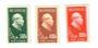 CHINA 1951 30th Anniversary of the Chinese Communist Party. Set of 3. These seem to be originals. The reprints are described as