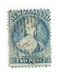 NEW ZEALAND 1862 Full Face Queen 2d Pale Blue. Worn Plate. Row 16/10. - 39536 - VFU