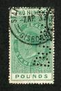 NEW ZEALAND 1880 Victoria 1st Long Type Fiscal £200 Green. Punched. - 39776 - Fiscal
