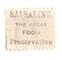 NEW ZEALAND 1882 Victoria 1st Second Sideface 4d Green. Salsaline the Great Food Preservative. Perf 10. In mauve. - 3979 - FU