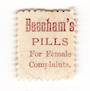 NEW ZEALAND 1882 Victoria 1st Second Sideface 6d Brown. Beechams Pills for female complaints. Perf 10. Mauve to Brown-Purple. -