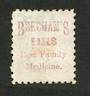 NEW ZEALAND 1882 Victoria 1st Second Sideface 2½d Blue.  Perf 10. Beechams Pills ......................... - 3986 - Used