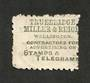 NEW ZEALAND 1882 Victoria 1st Second Sideface 2d Lilac. Perf 10. Advert in Green. Truebridge Miller . ..........................