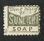 NEW ZEALAND 1882 Victoria 1st Second Sideface 2d Lilac. Perf 10. Advert in Green. Don't worry Sunlight Soap. - 3993 - Used