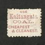 NEW ZEALAND 1882 Victoria 1st Second Sideface 5d Olive-Black. Perf 10. 3rd Setting Mauve. Kaitangata Coal. - 3997 - Used