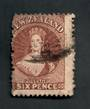 NEW ZEALAND 1862 Full Face Queen 6d Brown. The only