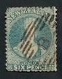 NEW ZEALAND 1862 Full Face Queen 6d Blue. Nice cancel 8. Dull corner. - 39996 - Used