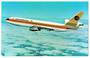 Coloured postcard of Continental Airlines DC-10-30. - 40832 - Postcard