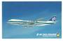 Coloured advertising postcard of Air New Zealand Boeing 747. - 40835 - Postcard
